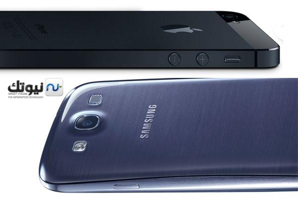 iphone5vsgs3 مقارنة بين الآيفون 5 والجالكسي اس 3 والجالكسي نوت 2