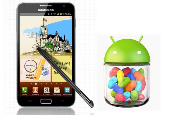 Galaxy Note II Jelly Bean تحديث الجالكسي نوت 2 للأندرويد 4.1.2 ( الجيلي بين ) يصل للشرق الأوسط