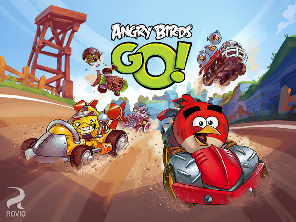 Angry Birds Go إطلاق لعبة الطيور الغاضبة Angry Bird Go بحلة جديدة مع متعة سباق السيارات للأندرويد والـ ios والبلاك بيري والويندوزفون [ تحديث ]