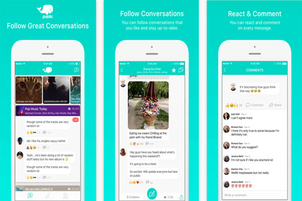 ـ تطبيق Public للدردشة الجماعية مع الأصدقاء والمشاهير للأيفون Public.jpg