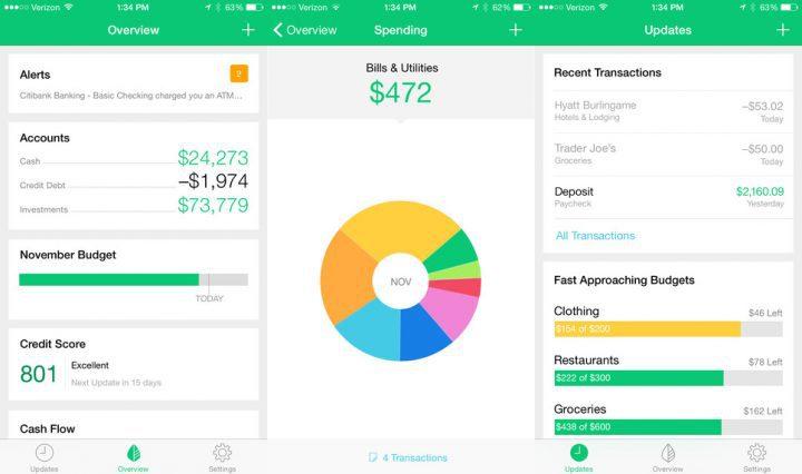 Mint Budgeting - أهم 5 تطبيقات لإدارة الميزانية وتوفير النفقات للأندرويد والآيفون