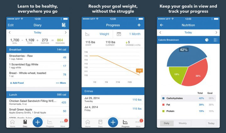 MyFitnessPal - 5 تطبيقات ستساعدك على خسارة الوزن متاحة لكل الهواتف الذكية