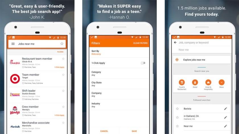 SnagAJob - أفضل تطبيقات البحث عن الوظائف وكتابة السيرة الذاتية للأندرويد والآيفون