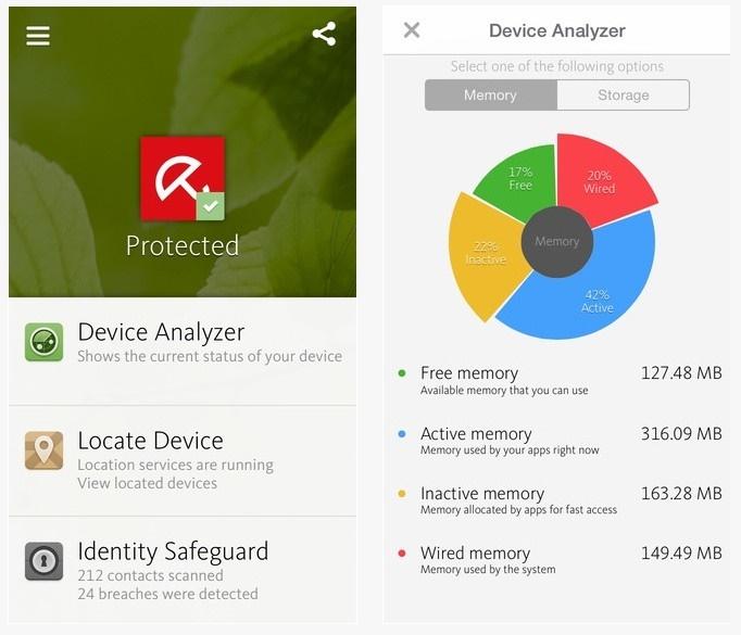 Avira - أفضل التطبيقات لحماية وأمن جوالك للآيفون الآيباد